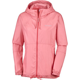 Columbia Flash Forward Chaqueta Cortavientos Mujer, coral bloom